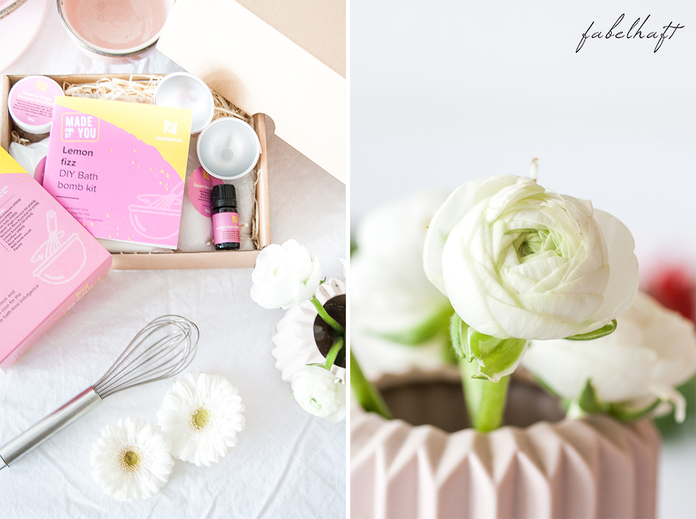 Naissance DIY Badebombe Fizz Badekugel Homemad Selber machen Lemon Kit Set Beauty Badewanne Bath 4