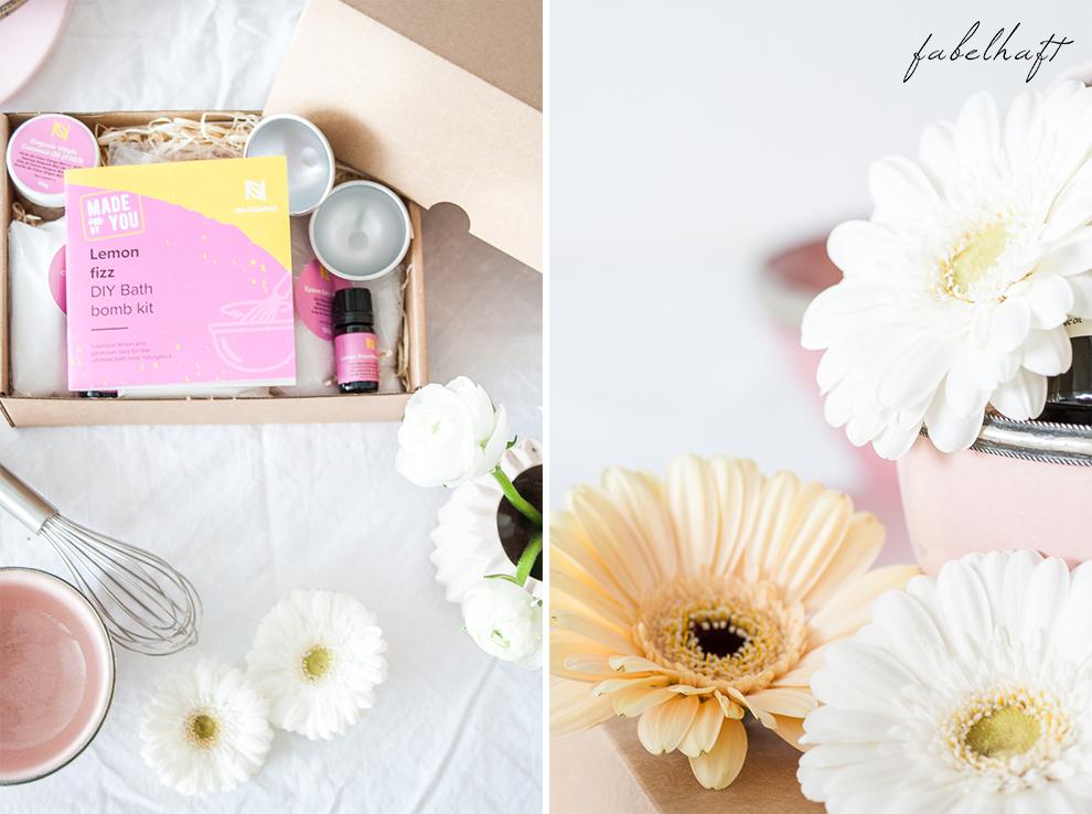 Naissance DIY Badebombe Fizz Badekugel Homemad Selber machen Lemon Kit Set Beauty Badewanne Bath 5