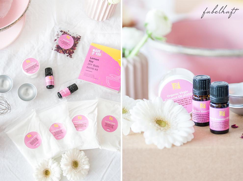 Naissance DIY Badebombe Fizz Badekugel Homemad Selber machen Lemon Kit Set Beauty Badewanne Bath 6