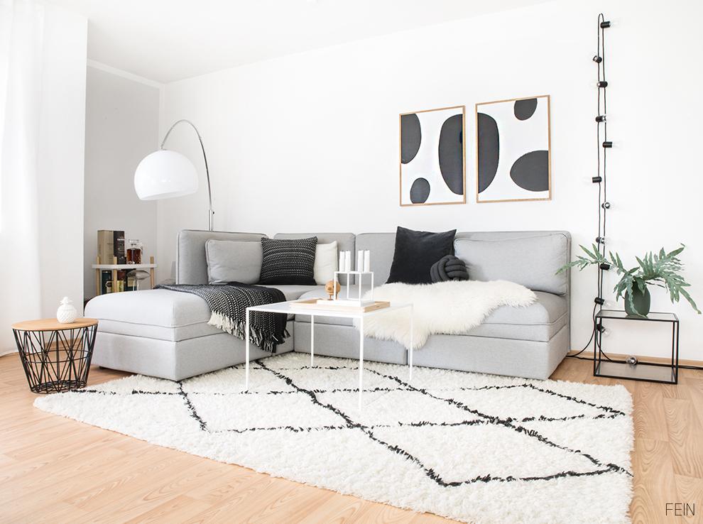 schwarz wei e einrichtung nordisch wohnen fein und fabelhaft. Black Bedroom Furniture Sets. Home Design Ideas