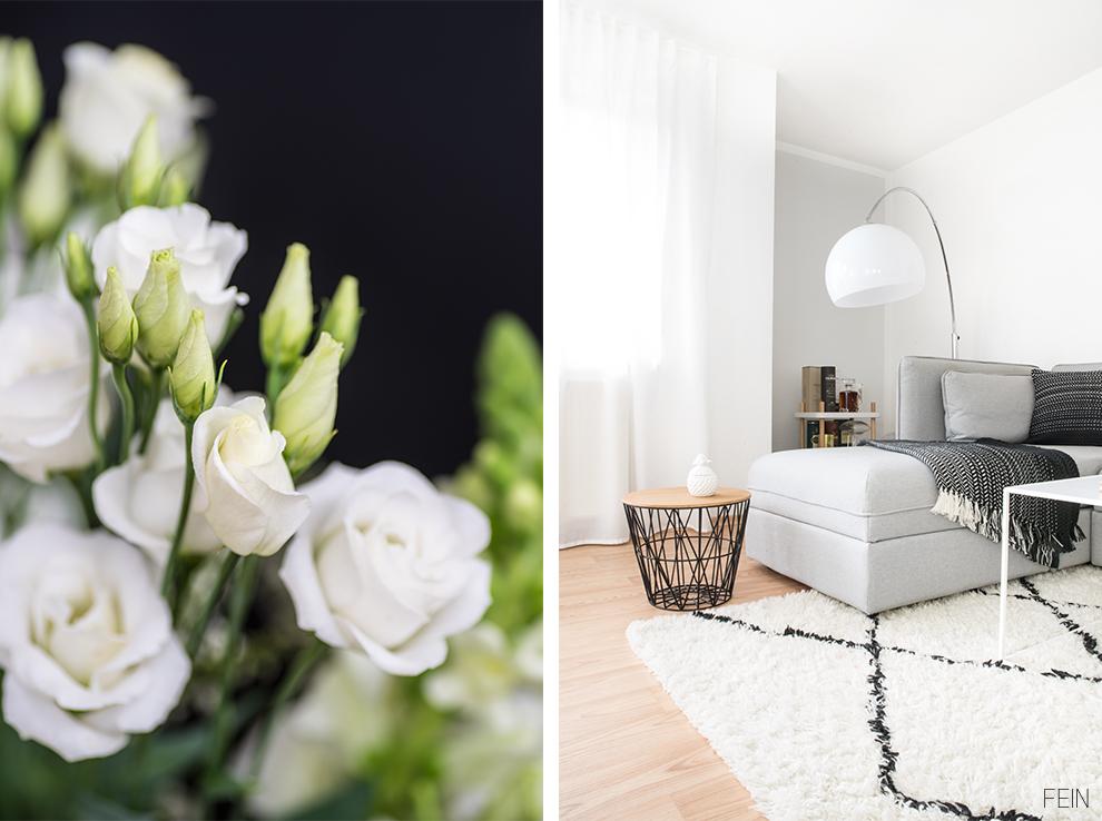 schwarz weiße einrichtung skandinavisch wohnen