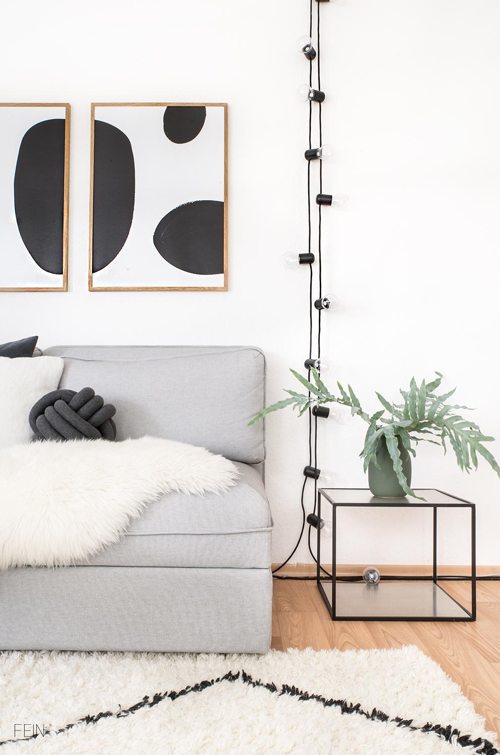 schwarz wei e einrichtung wohnzimmer fein und fabelhaft. Black Bedroom Furniture Sets. Home Design Ideas