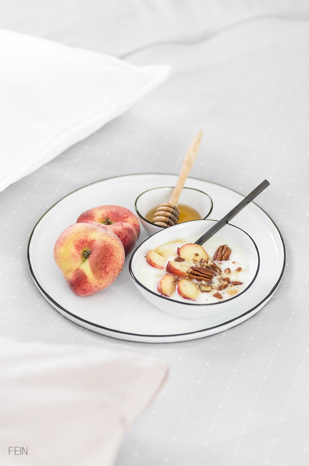 Bettwäsche Sommer Frühstück im Bett