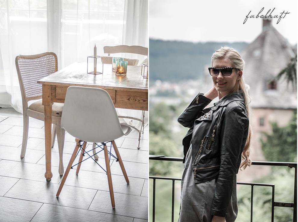 Schloßgarten Marburg Outfit Sommer Kleid Jeanskleid Valentino Rockstud Interior Chippendale Restaurantion Home Projekt 5