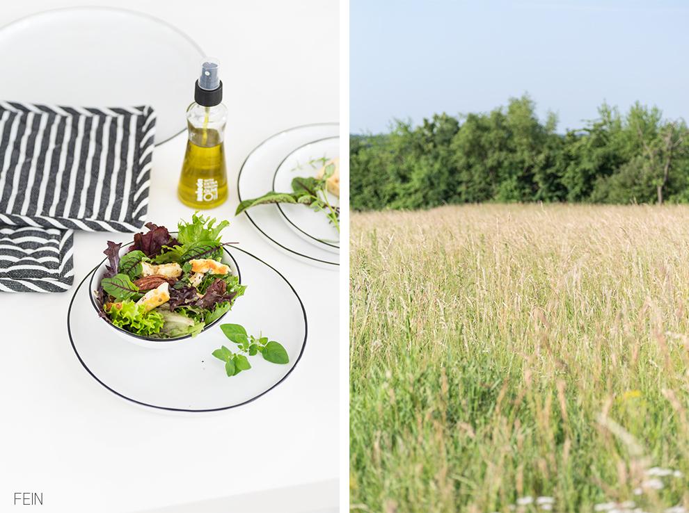 Sommer Essen Salat Halloumi