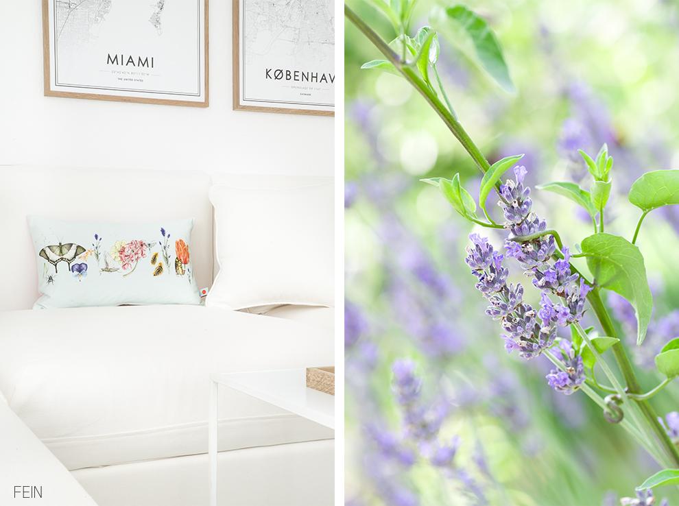 Sommerwiese Wohnzimmer Lavendel