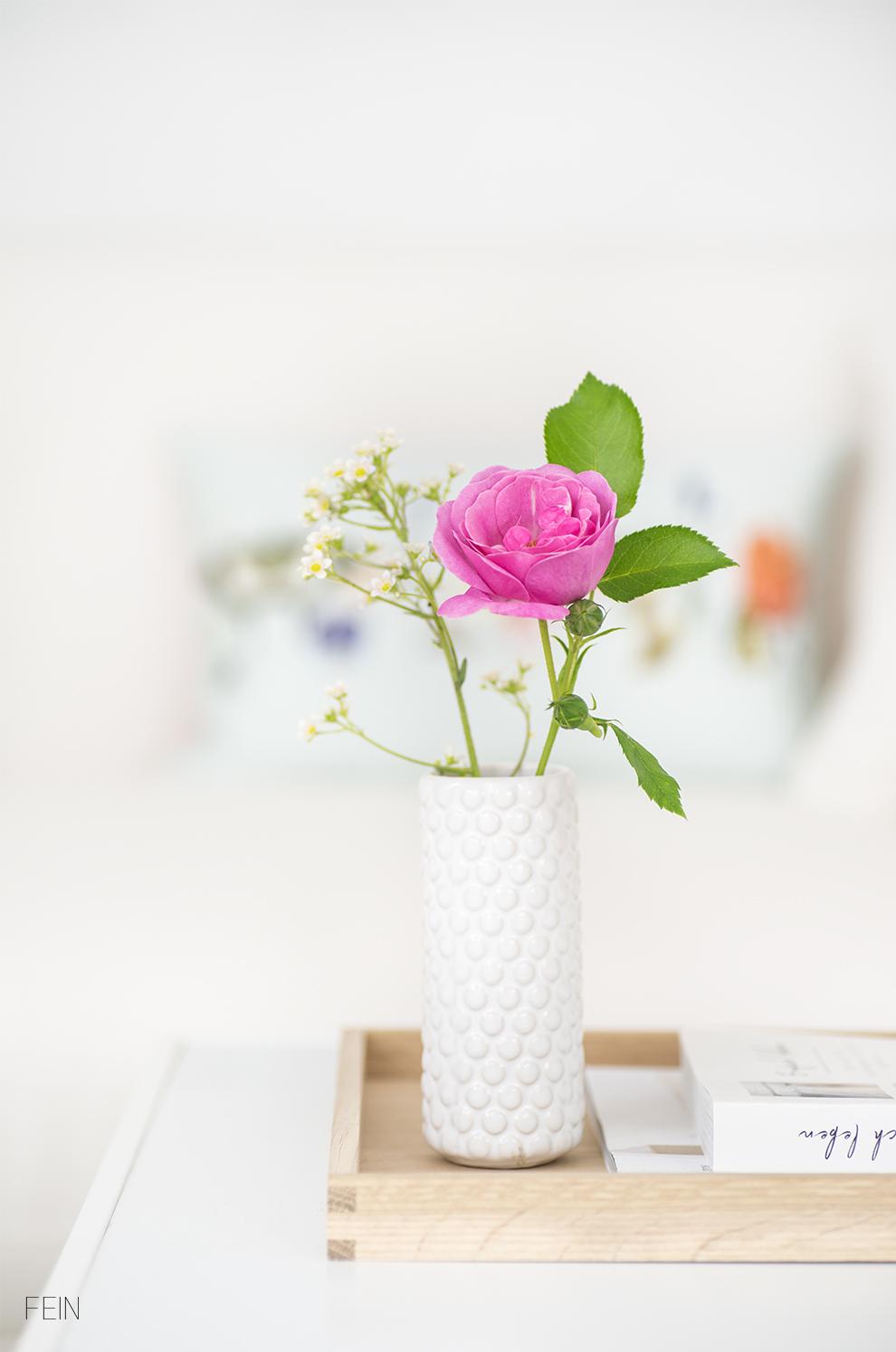 Sommerwiese Wohnzimmer Rose