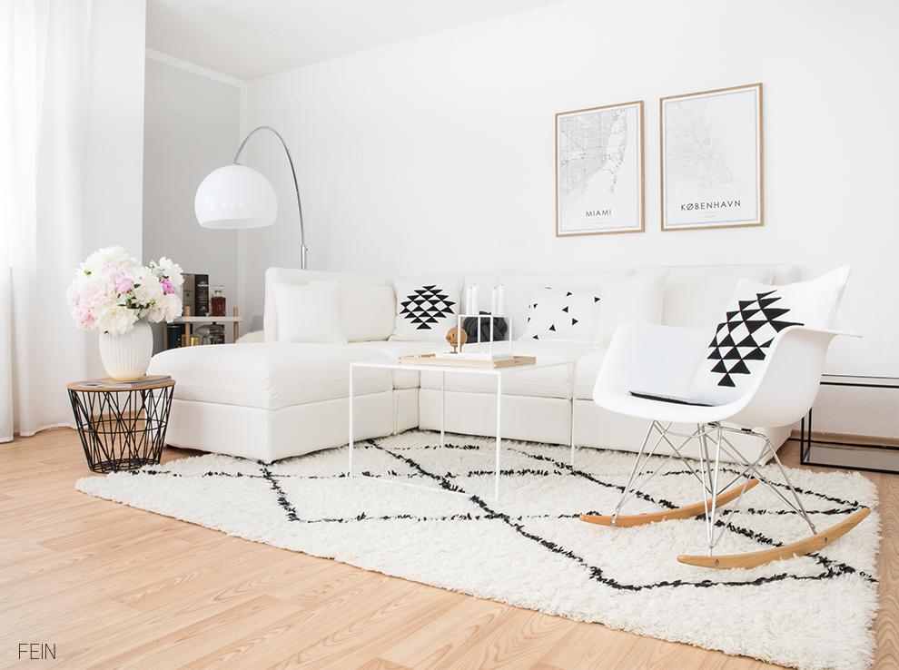 Weißes Sofa Skandi Stil