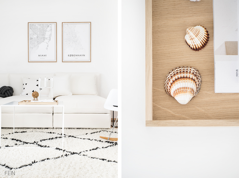 Weißes Sofa Sommer Wohnen