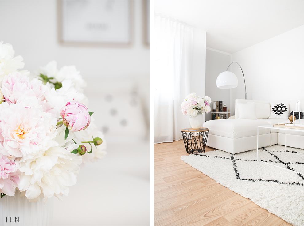 Weißes Sofa skandinavisch wohnen