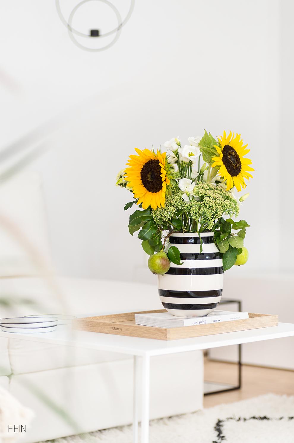 Klassiker Kähler Vase Blumen Spätsommer