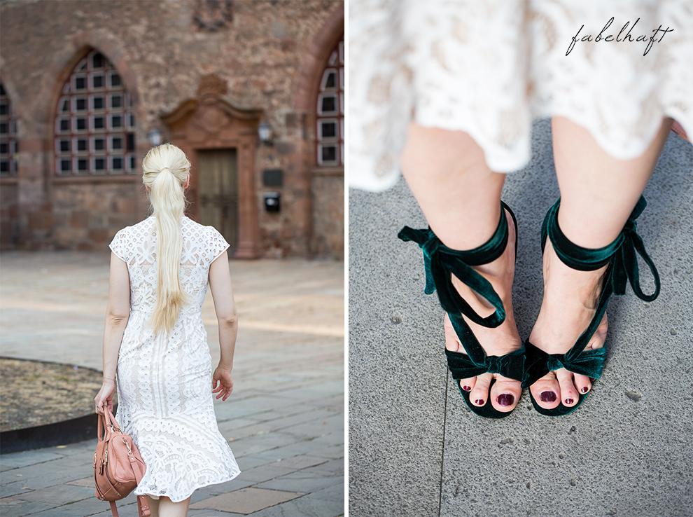Spitze Kleid Weiß Elegant Fashion Mode Trend Weiß Beige Blond BLogger Fein und Fabelhaft 2