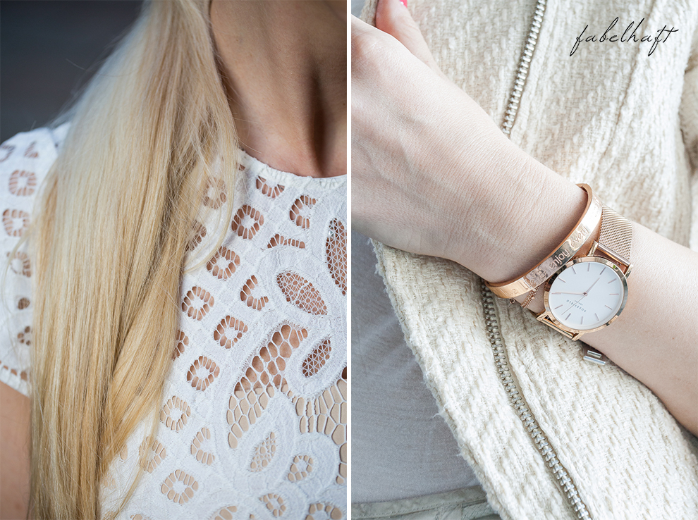 Spitze Kleid Weiß Elegant Fashion Mode Trend Weiß Beige Blond BLogger Fein und Fabelhaft 3