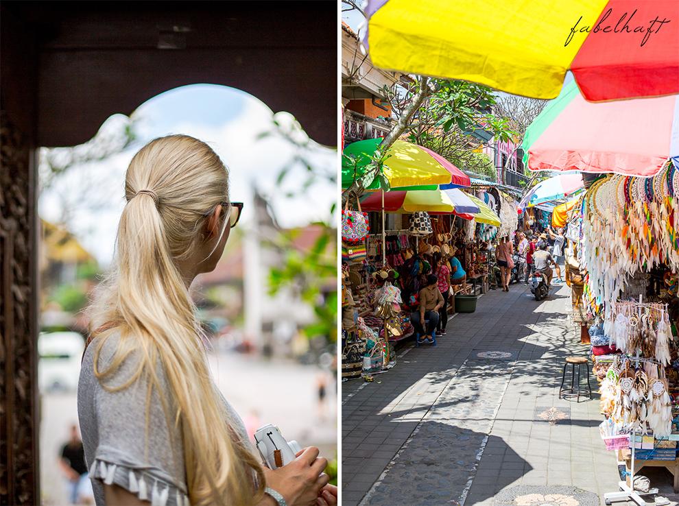 Ubud Bali Markt Korbwaren Stand Tradition Kultur Stadt 2