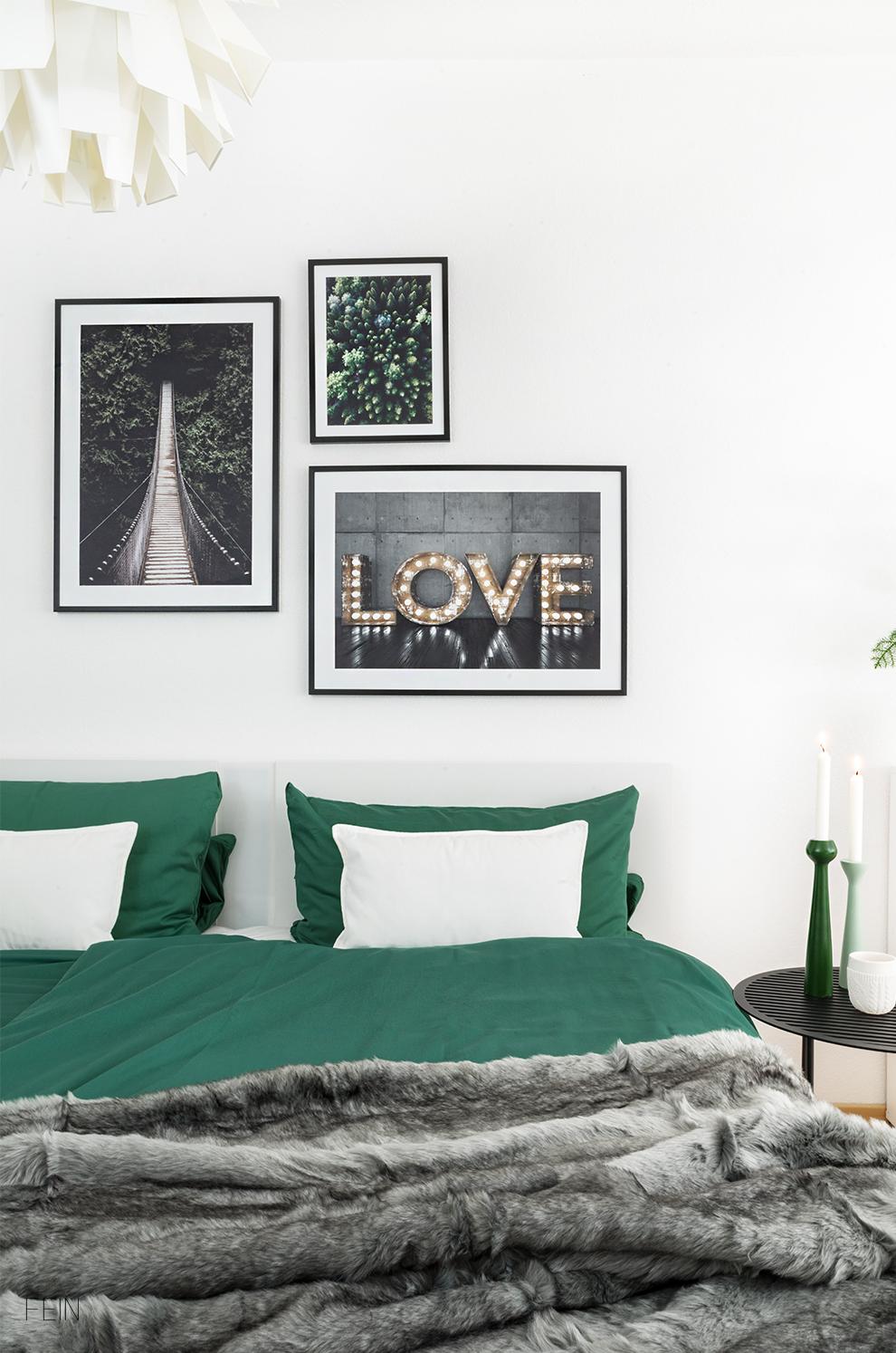 ein st ck wald im herbstlichen schlafzimmer fein und fabelhaft. Black Bedroom Furniture Sets. Home Design Ideas
