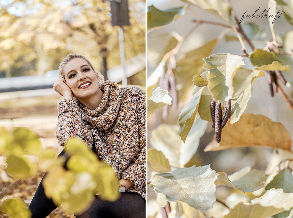Herbst Oktober Wochenende Indian Summer Gold Blätter Make Up Blogger Fein und Fabelhaft Beauty 7