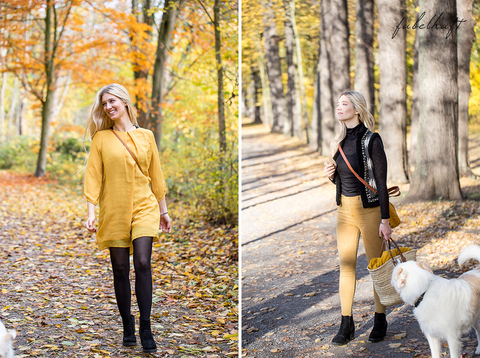 Herbst Lookbook Senfgelb Ethno Blond BLogger Girl Mode Trend Fashion Lifestyle Lebensfreude