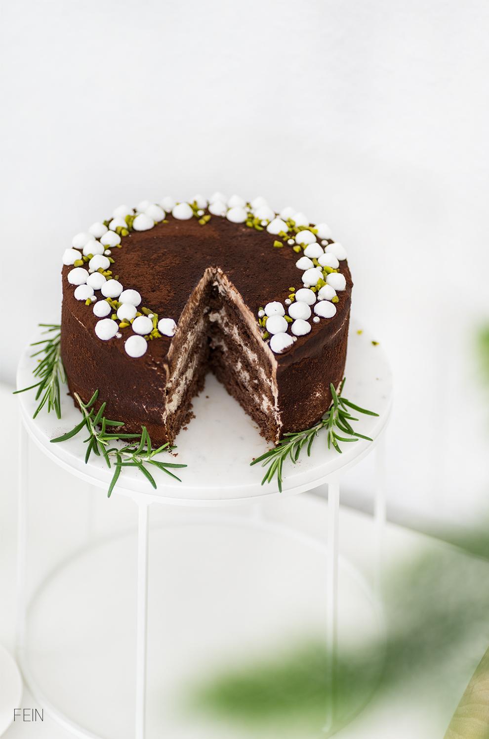 Schoko Biskuit Torte Xmas