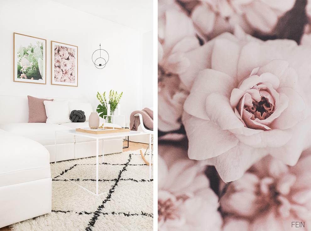 Poster Rose Blüten