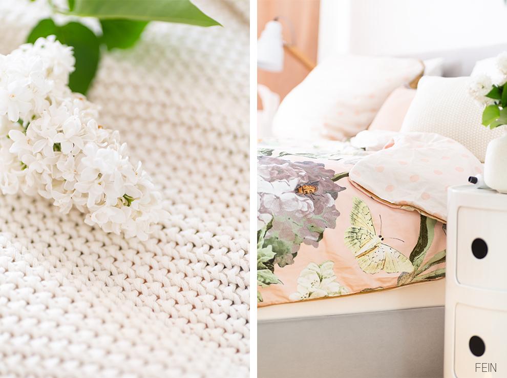Florale Prints Sommer Schlafzimmer