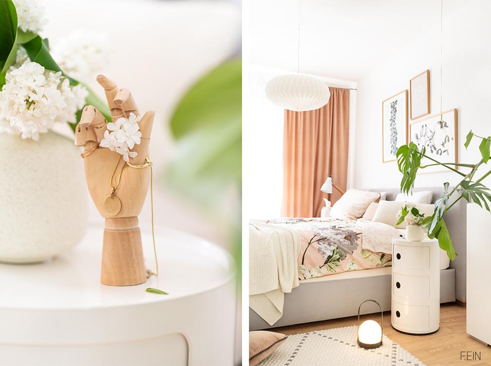 Florale Prints im Schlafzimmer