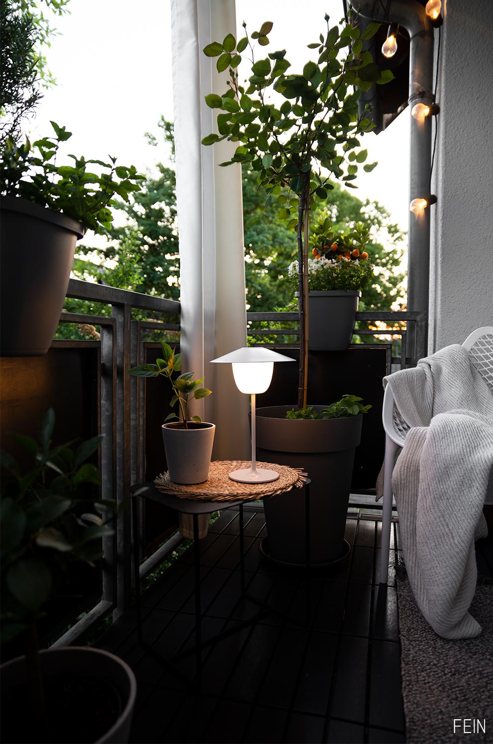 Balkon Nacht Beleuchtung