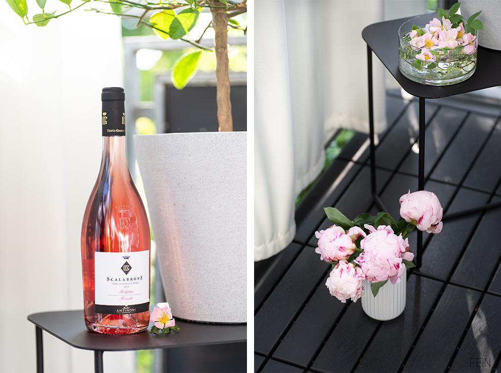 Rose Wein Balkon Sommer