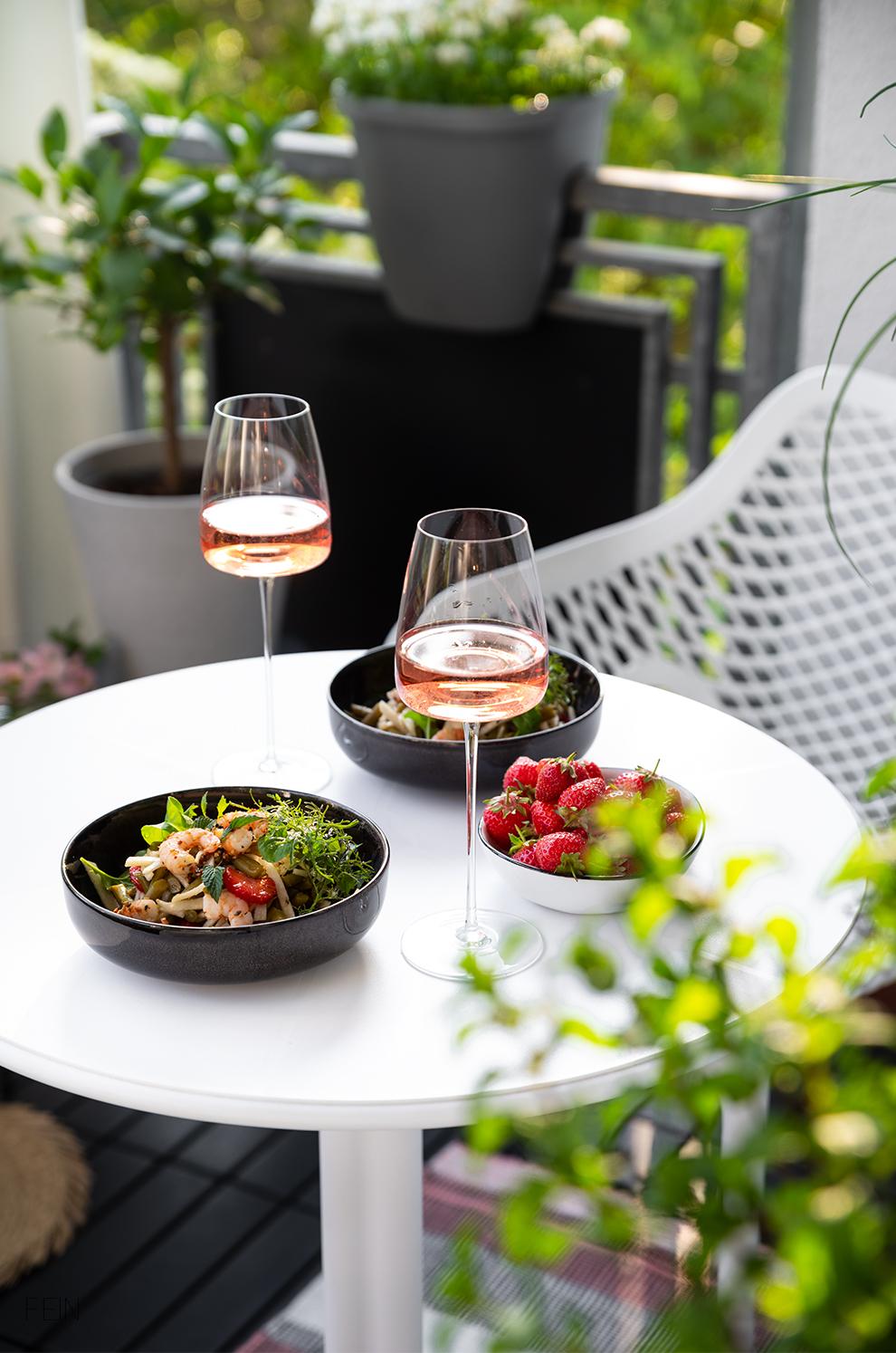 Rose Wein Sommer Gericht
