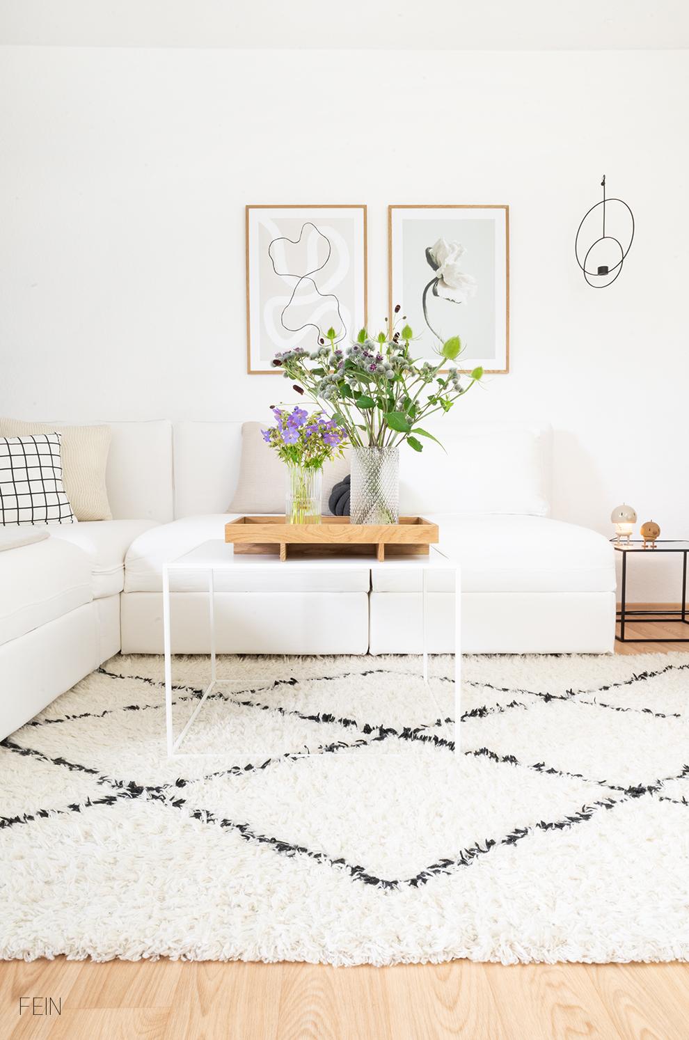 Wiesenblumen Wohnzimmer Vasen