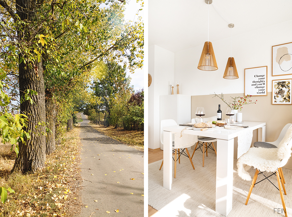 Herbst Zuhause genießen