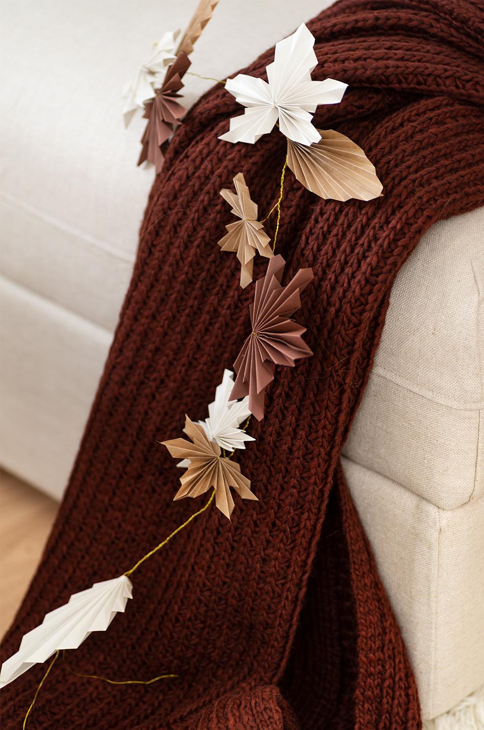 Herbstdeko DIY Papierblätter