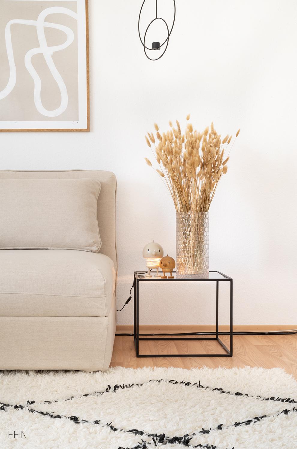 Leinen Sofa Trockenblumen 2