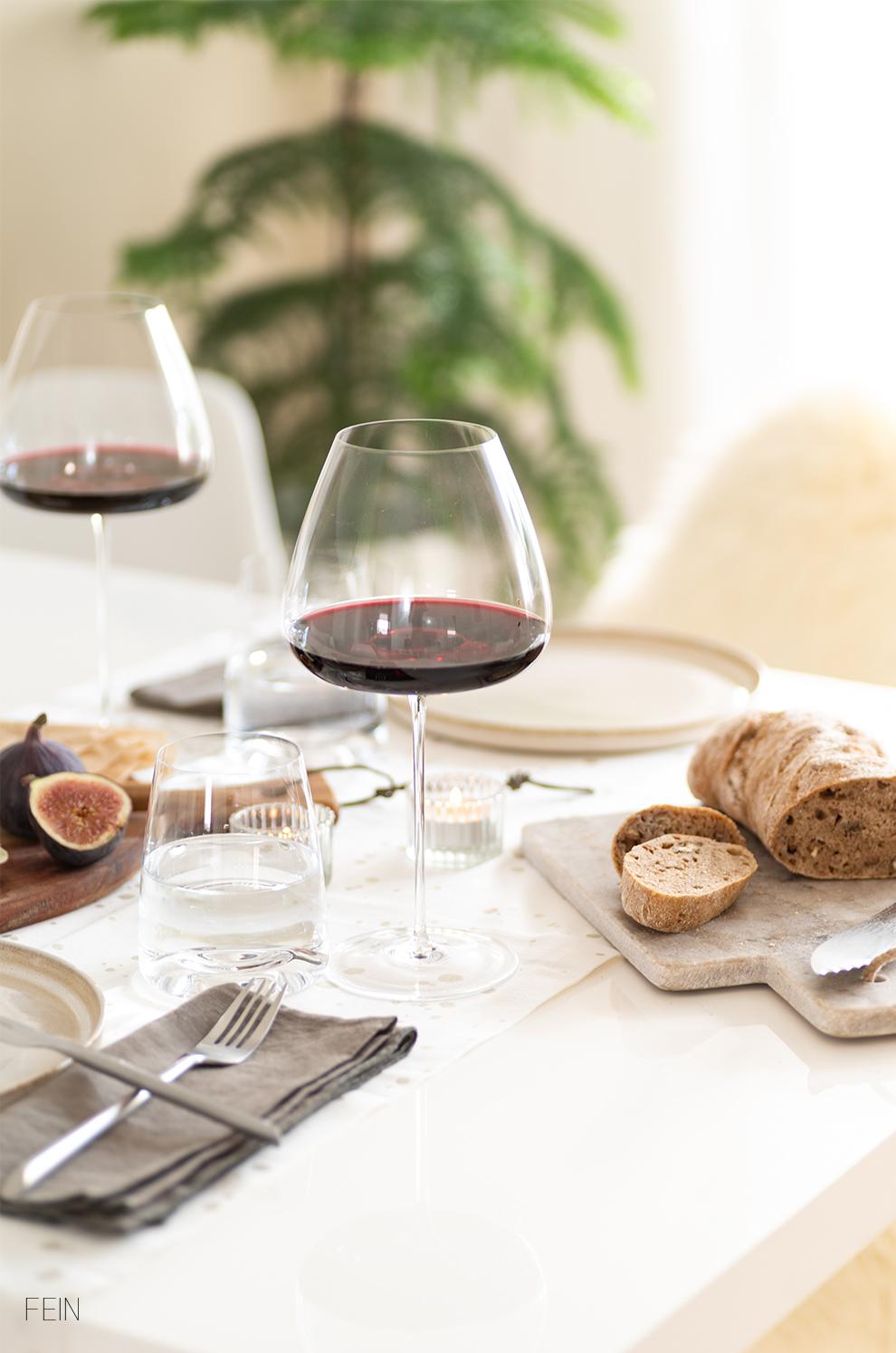 Wein Herbst Tisch