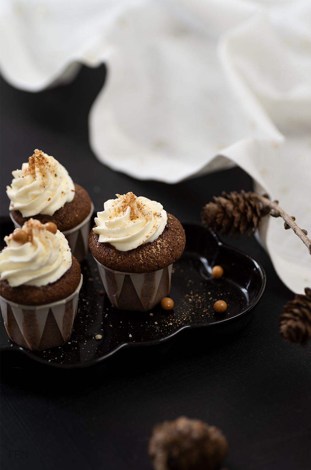 Schokoladenmuffins vegan winterlich