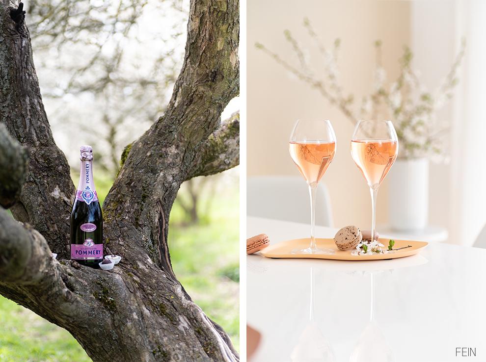 Champagner Pommery Rose