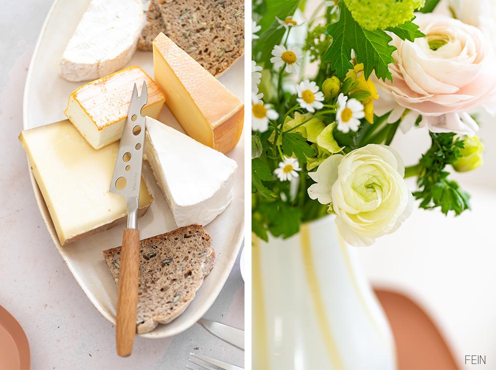 Frühling Tisch Brotzeit