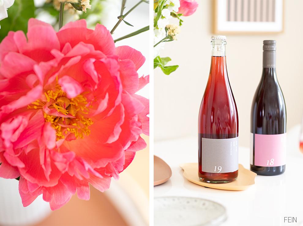 Wein Sommer Rose