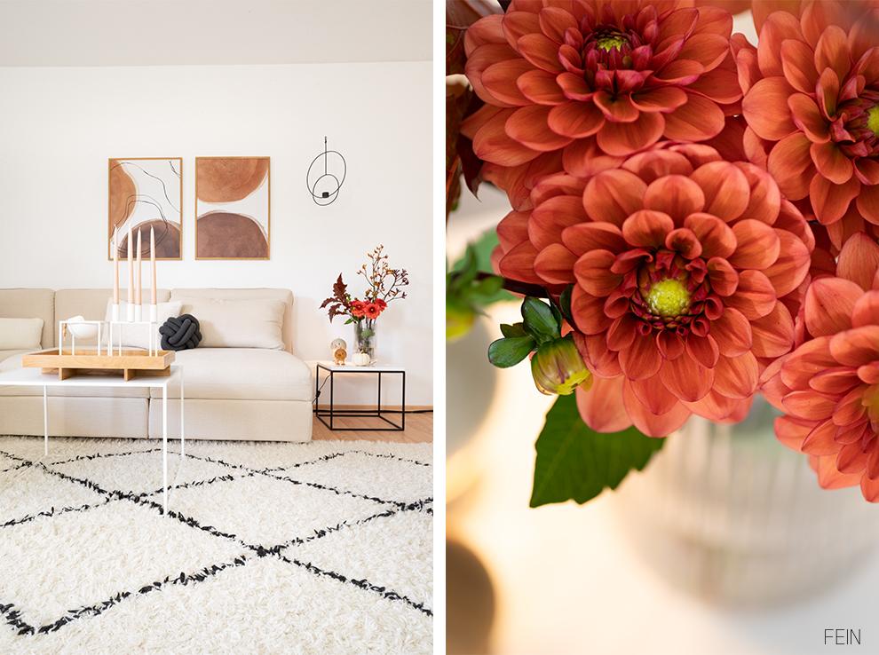 Herbst Umstyling Wohnzimmer