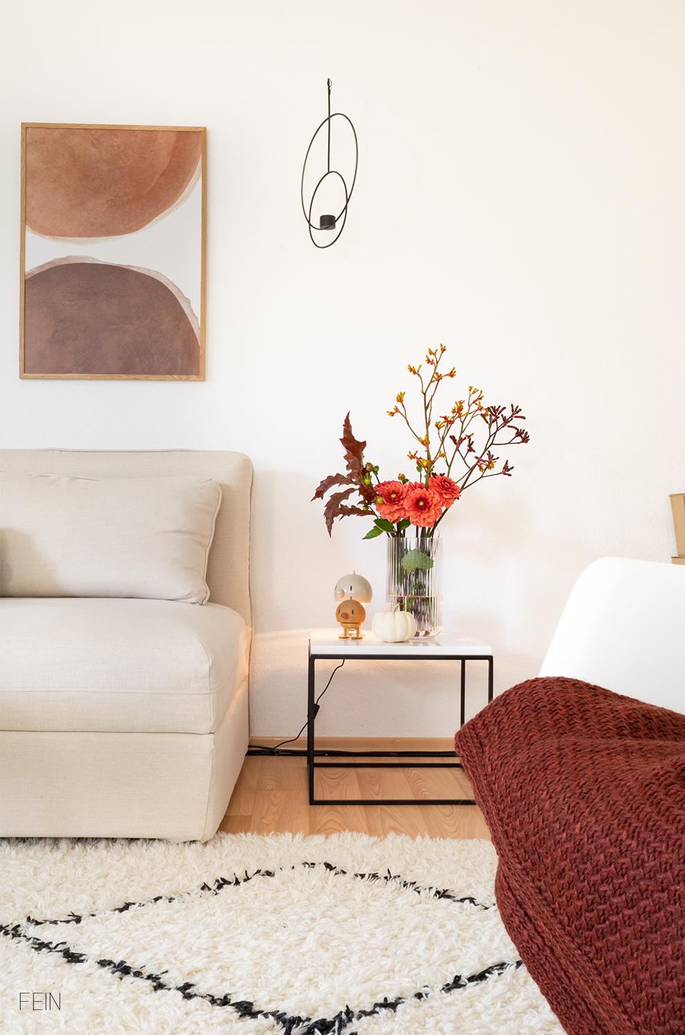 Herbst Wohnzimmer Deko